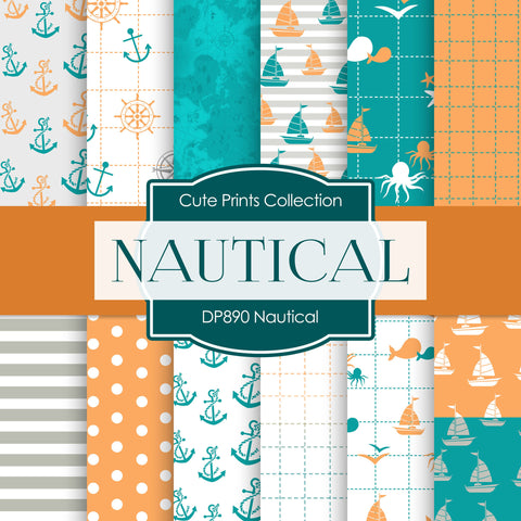 Nautical Digital Paper DP890 - Digital Paper Shop - 1
