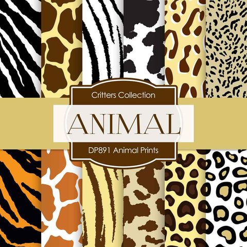 Animal Prints Digital Paper DP891 - Digital Paper Shop - 1