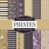 Vintage Pirates Digital Paper DP892 - Digital Paper Shop - 1