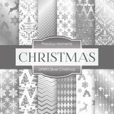Silver Christmas Digital Paper DP892A - Digital Paper Shop - 1