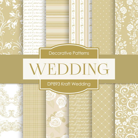 Kaft Wedding Digital Paper DP893 - Digital Paper Shop - 1