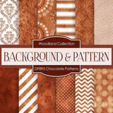 Chocolate Patterns Digital Paper DP895 - Digital Paper Shop - 1