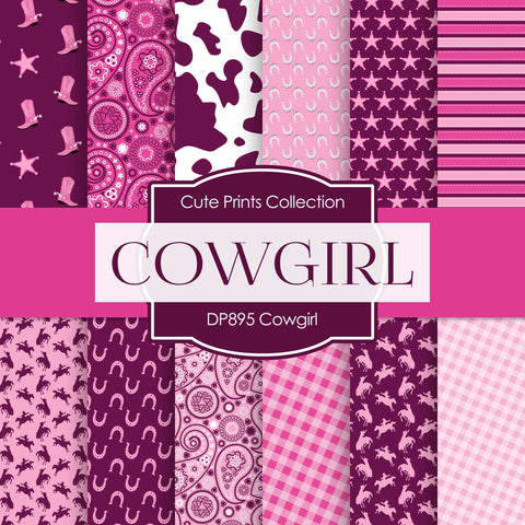 Cowgirl Digital Paper DP895 - Digital Paper Shop - 1