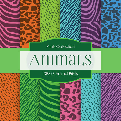 Animal Prints Digital Paper DP897 - Digital Paper Shop - 1