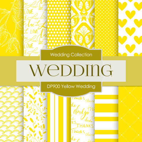 Yellow Wedding Digital Paper DP900 - Digital Paper Shop - 1