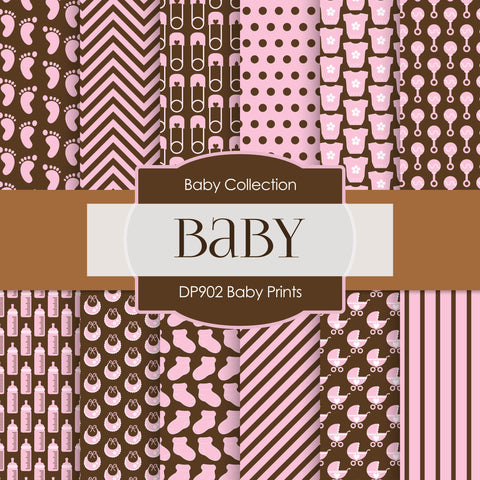 Baby Prints Digital Paper DP902 - Digital Paper Shop - 1
