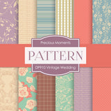 Vintage Wedding Digital Paper DP910 - Digital Paper Shop - 1