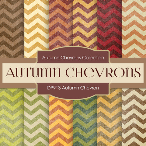 Autumn Chevron Digital Paper DP913 - Digital Paper Shop - 1