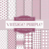 Vintage Purple Digital Paper DP917 - Digital Paper Shop - 1