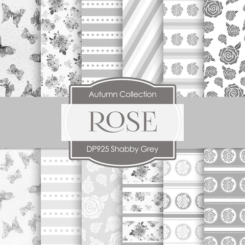 Shabby Grey Digital Paper DP925 - Digital Paper Shop - 1