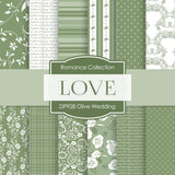 Olive Wedding Digital Paper DP928 - Digital Paper Shop - 1