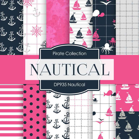 Nautical Digital Paper DP935 - Digital Paper Shop - 1