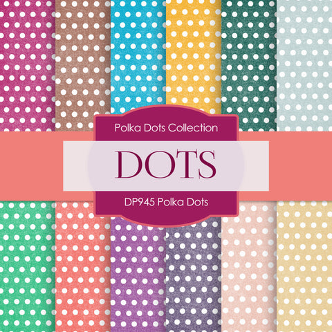 Polka Dots Digital Paper DP945 - Digital Paper Shop - 1