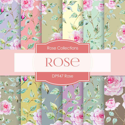 Rose Digital Paper DP947 - Digital Paper Shop - 1