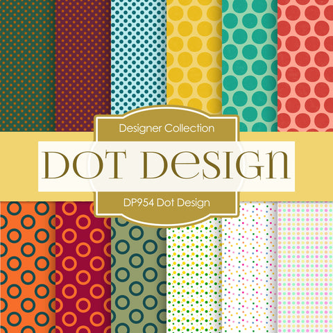Dot Design Digital Paper DP954 - Digital Paper Shop - 1
