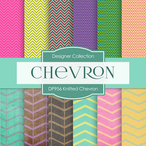 Knitted Chevron Digital Paper DP956 - Digital Paper Shop - 1