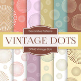 Vintage Dots Digital Paper DP960 - Digital Paper Shop - 1