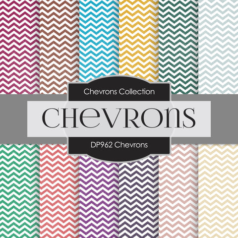 Chevrons Digital Paper DP962 - Digital Paper Shop - 1