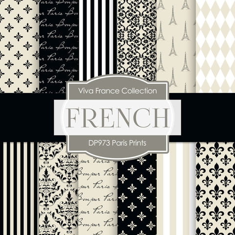 Paris Prints Digital Paper DP973 - Digital Paper Shop - 1