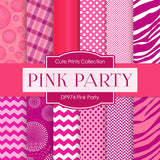 Pink Party Digital Paper DP974 - Digital Paper Shop - 1