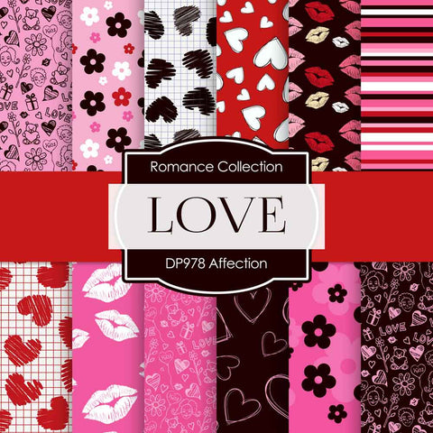 Affection Digital Paper DP978 - Digital Paper Shop - 1
