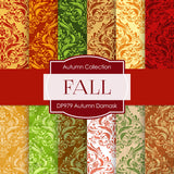 Autumn Damask Digital Paper DP979 - Digital Paper Shop - 1