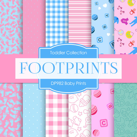 Baby Prints Digital Paper DP982 - Digital Paper Shop - 1
