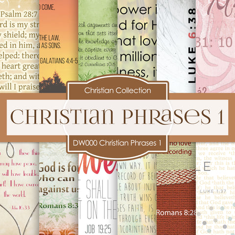 Christian Phrases 1 Digital Paper DW000