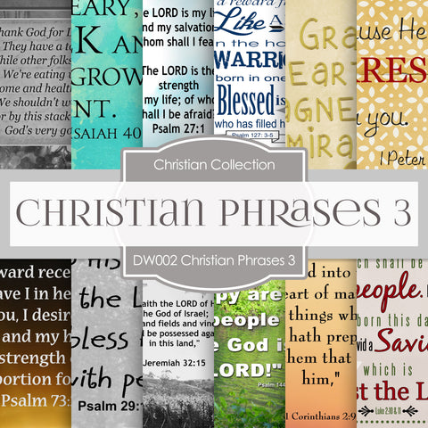 Christian Phrases 3 Digital Paper DW002