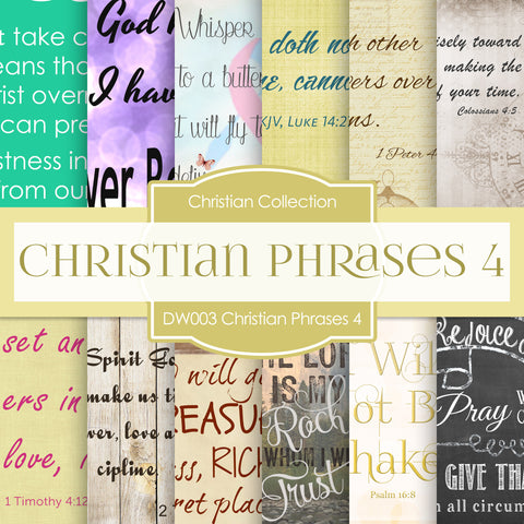 Christian Phrases 4 Digital Paper DW003
