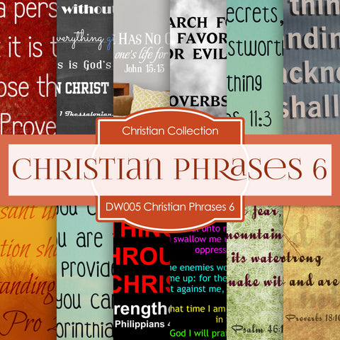 Christian Phrases 6 Digital Paper DW005