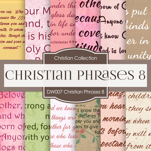 Christian Phrases 8 Digital Paper DW007