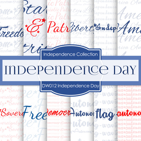 Independence Day Digital Paper DW012