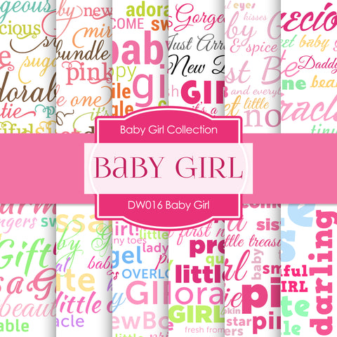 Baby Girl Digital Paper DW016