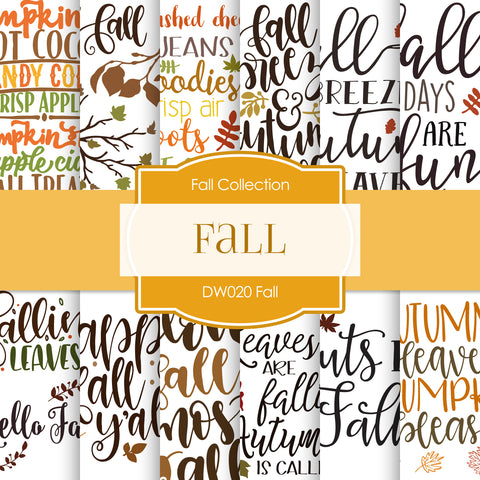 Fall Digital Paper DW020