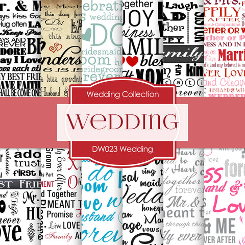 Wedding Digital Paper DW023