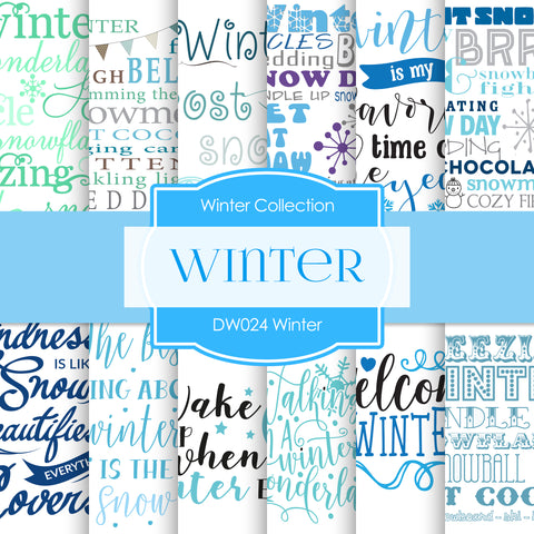 Winter Digital Paper DW024
