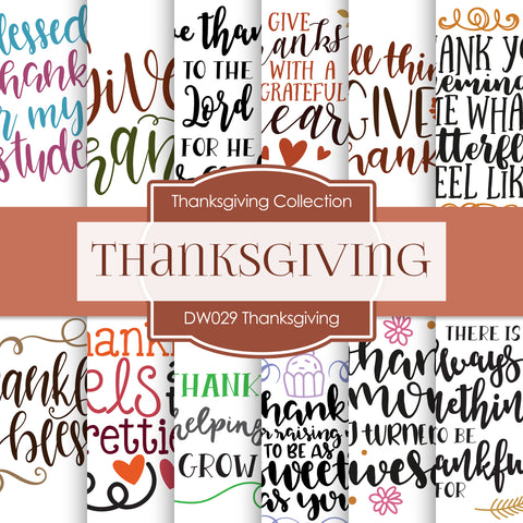 Thanksgiving Digital Paper DW029