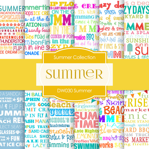 Summer Digital Paper DW030