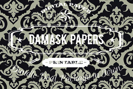 Digital Papers - Damask Papers Bundle Deal - Digital Paper Shop