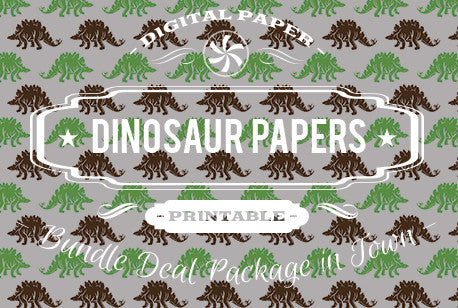 Digital Papers - Dinosaur Papers Bundle Deal - Digital Paper Shop