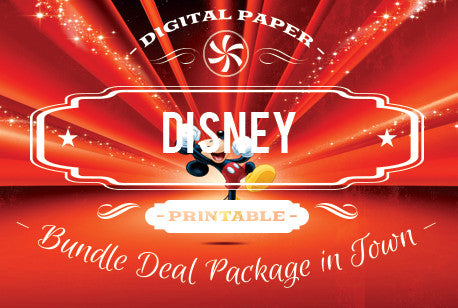 Digital Papers - Disney & Cartoon Bundle Deal - Digital Paper Shop