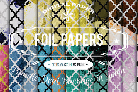 Digital Papers - Foil Papers Bundle Deal - Digital Paper Shop