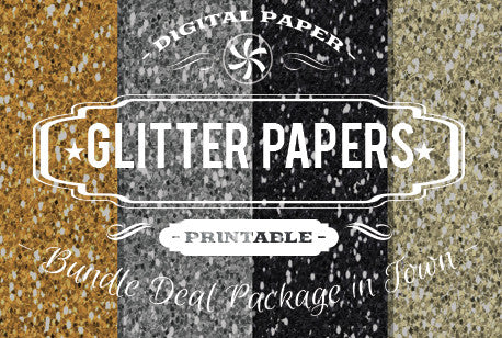 Digital Papers - Glitter Textures Bundle Deal - Digital Paper Shop
