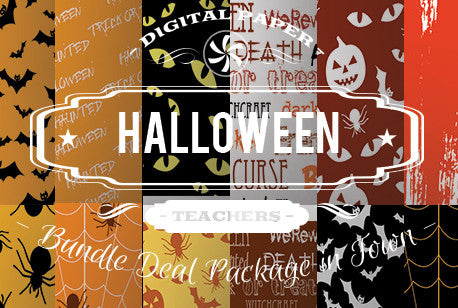 Digital Papers - Halloween Papers Bundle Deal - Digital Paper Shop