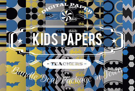 Digital Papers - Kids Papers Bundle Deal - Digital Paper Shop