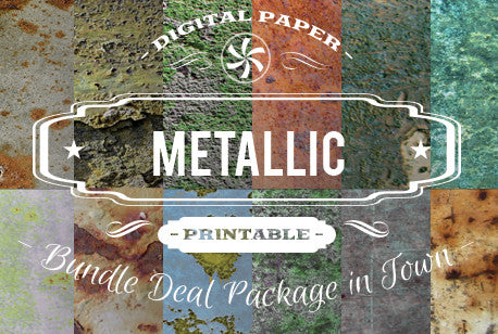 Digital Papers - Metallic Papers Bundle Deal - Digital Paper Shop