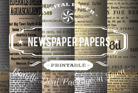 Digital Papers - Newsprints Papers Bundle Deal - Digital Paper Shop