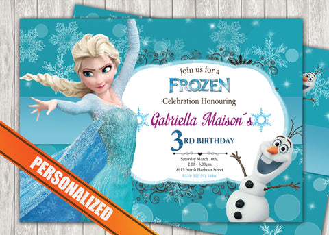 Frozen Greeting Card PC014 - Digital Paper Shop - 1