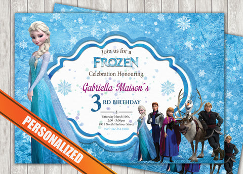 Frozen Greeting Card PC015 - Digital Paper Shop - 1